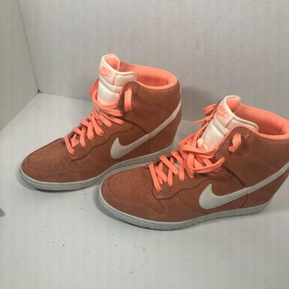 62150ba2a32c Nike Shoes   Wedge High Heel Sneakers   Poshmark